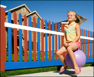 Color Vinyl Fence