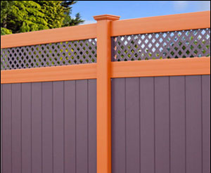 Vinyl Privacy Fence - Lattice