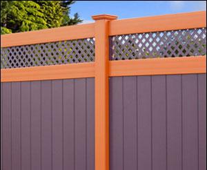 Vinyl Privacy Fence - Lattice