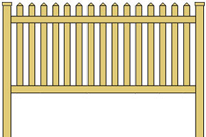 Vinyl Picket Fence Panel