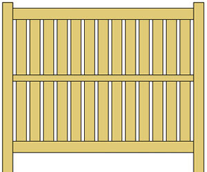 Semi Privacy Vinyl Fence Panels