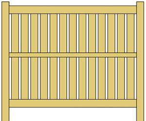 Semi Privacy Vinyl Fence Panels