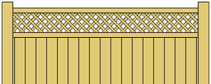 Vinyl Privacy Fence w/ Diagonal Lattice