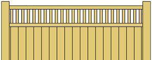 Vinyl Privacy Fence w/ Framed Rails
