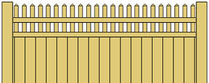 Vinyl Privacy Fence w/ Straight Pickets