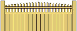 Vinyl Privacy Fence w/ Arched Pickets