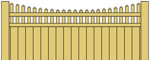 Vinyl Privacy Fence w/ Scalloped Pickets