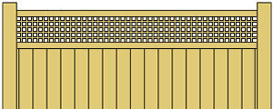 Vinyl Privacy Fence w/ Square Lattice