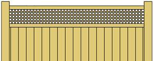 Vinyl Privacy Fence w/ Square Lattice