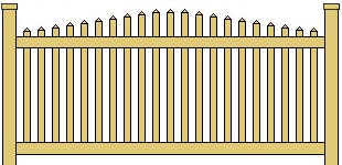 Classic Vinyl Picket Fence Framed