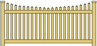 Classic Vinyl Picket Fence Scalloped