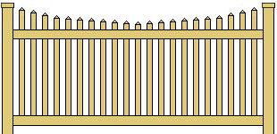Classic Vinyl Picket Fence Scalloped