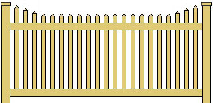 Classic Vinyl Picket Fence Stepped