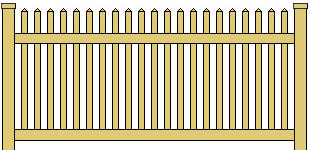 Classic Vinyl Picket Fence Straight