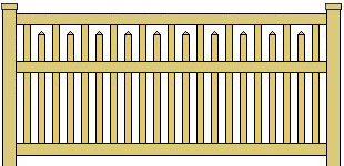 Classic Vinyl Fence Staggered Framed Picket