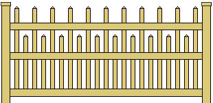 Classic Vinyl Picket Fence Staggered