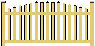 Vinyl Picket Fence Arched