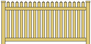 Vinyl Picket Fence Reduced Spacing