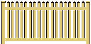 Vinyl Picket Fence Reduced Spacing