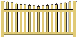 Vinyl Picket Fence Scalloped