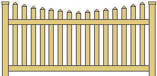 Vinyl Picket Fence Scalloped