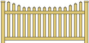 Vinyl Picket Fence Stepped