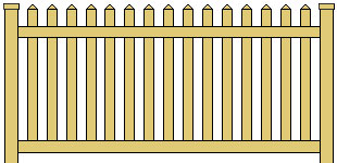 Vinyl Picket Fence Straight