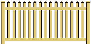 Vinyl Picket Fence Straight